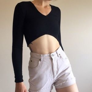 Reformation long sleeve crop top XS/S